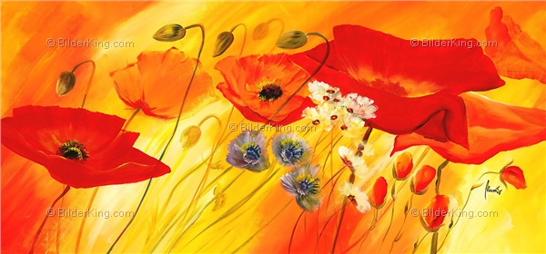Mural - Mia Morro : Fresh Poppies