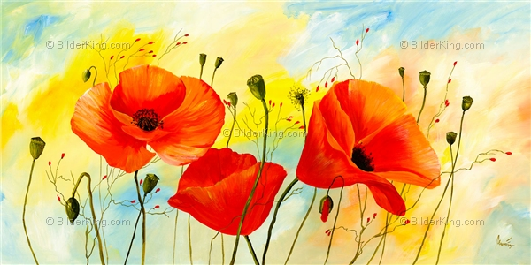 Mural - Mia Morro : Poppy Colors