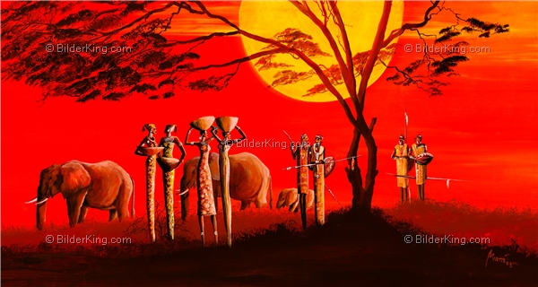 Mural - Mia Morro : Sunset in Africa