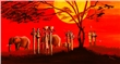 mural Mia Morro - Sunset in Africa