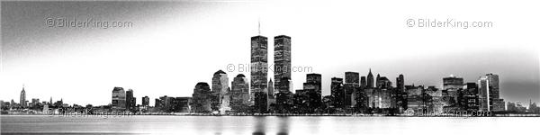 Mural - Jack Dyrell : Old New York Skyline - Twin Towers