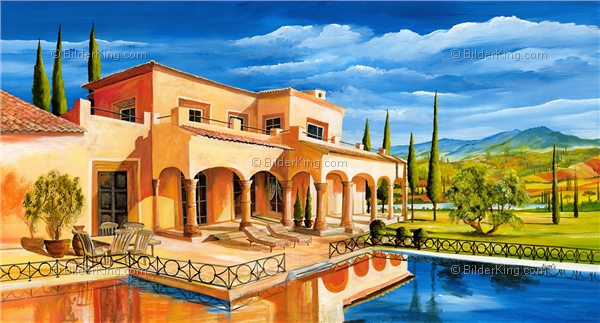 Mural - Mia Morro : mediterranean mansion with pool