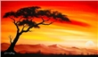 mural Chanel Simon - Sunset in Africa